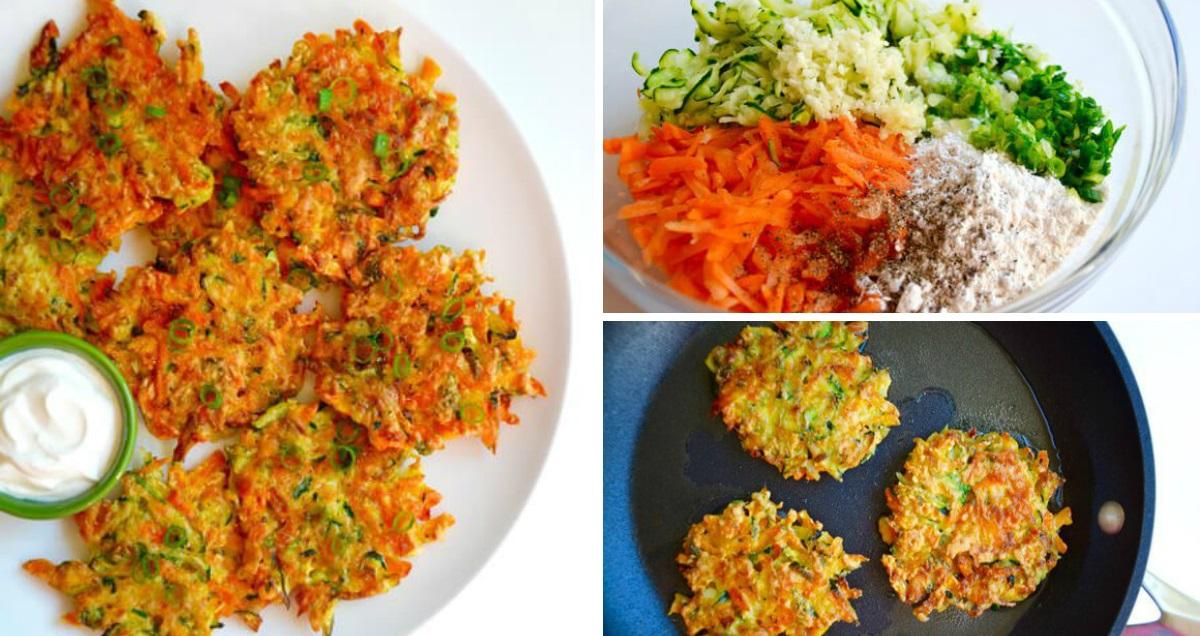 Zdravé zeleninové placky