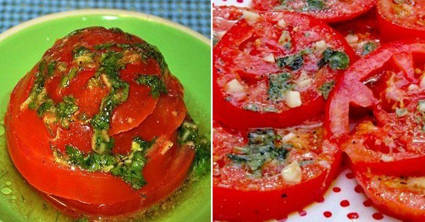 Rýchla a voňavá marináda na čerstvé paradajky