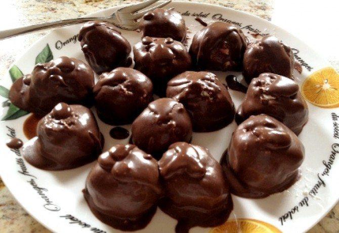 Fitness tvarohové guľky s čokoládou