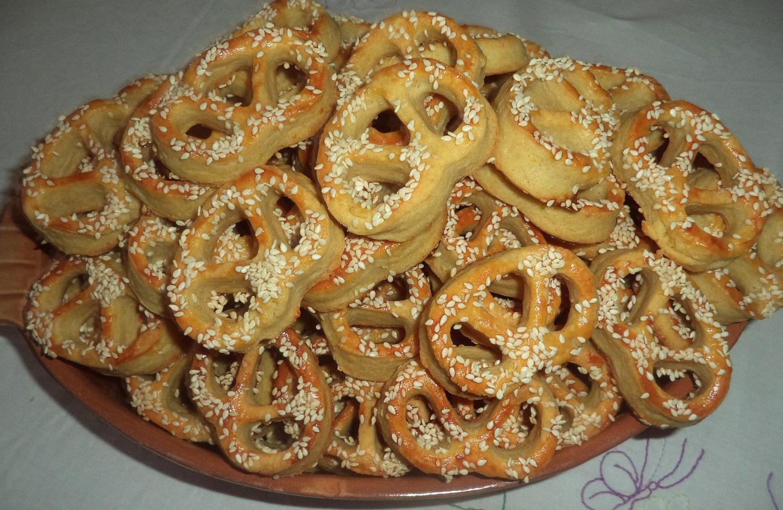 Slané sezamové praclíky