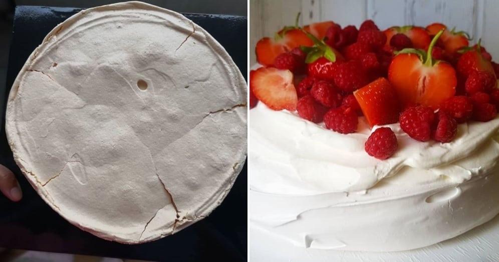 Pavlova torta s jahodami
