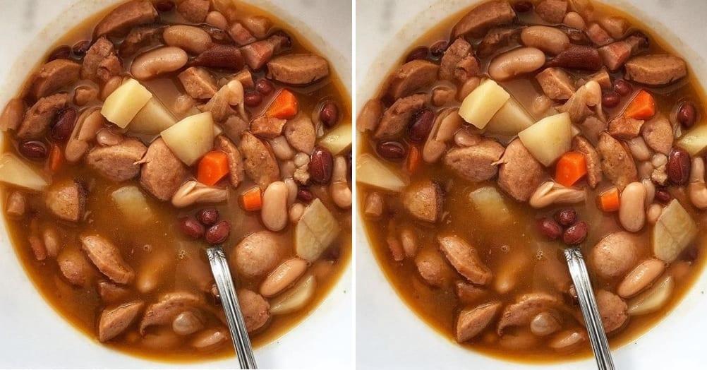Jesenná fazuľová polievka